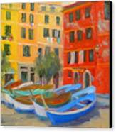 Vernazza Fleet Canvas Print