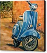 Vespa 2 Canvas Print
