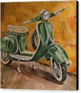 Vespa 3 Canvas Print
