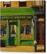 Vesuvio Bakery In New York City Canvas Print by Christopher Oakley
