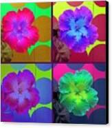 Vibrant Flower Series 2 Canvas Print by Jen White
