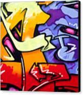 Vibrant Graffiti Canvas Print by Richard Thomas