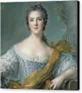 Victoire De France At Fontevrault Canvas Print by Jean Marc Nattier