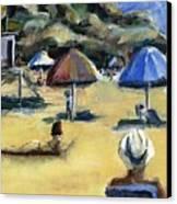 Victoria Beach White Hat Canvas Print