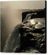 Victoria Falls And Zambezi River Shot Canvas Print by Jason Edwards