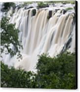 Victoria Falls Waterfall Framed Canvas Print by Roy Toft