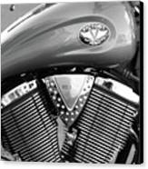 Victory Motorcycle Virginia City Nv Canvas Print by Troy Montemayor