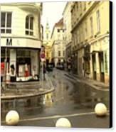 Vienna Corner After The Rain Canvas Print