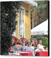 Vienna Restaurant In The Park Canvas Print