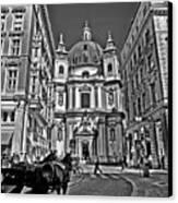 Vienna Scene Canvas Print by Madeline Ellis