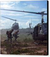 Vietnam War, Uh-1d Helicopters Airlift Canvas Print by Everett