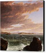 View Across Frenchman's Bay From Mt. Desert Island After A Squall Canvas Print by Thomas Cole