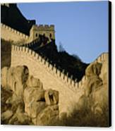 View Of A Section Of The Great Wall Canvas Print