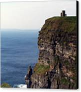 View Of Aran Islands And Cliffs Of Moher County Clare Ireland  Canvas Print