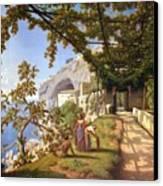 View Of Capri Canvas Print by Theodore Aligny
