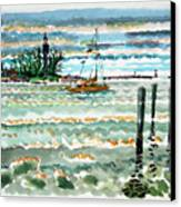View Of Lighthouse Point Canvas Print