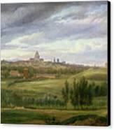 View Of Paris From Butte Aux Cailles Canvas Print