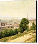 View Of Paris Canvas Print