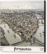 View Of Pittsburgh, 1902 Canvas Print