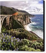 View Of The Bixby Creek Bridge Big Sur California Canvas Print by George Oze