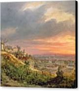 View Of The Butte Montmartre Canvas Print