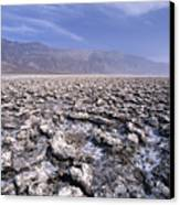 View Of The Devil's Golf Course Death Valley California Canvas Print by George Oze