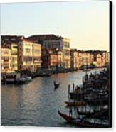 View Of The Grand Canal In Venice From The Rialto Bridge Canvas Print