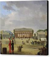 View Of The Grand Theatre Constructed In The Place De La Concorde For The Fete De La Paix Canvas Print