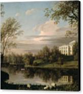 View Of The Pavlovsk Palace Canvas Print by Carl Ferdinand von Kugelgen