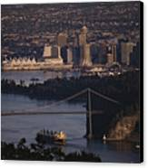 View Of Vancouver, British Columbia Canvas Print by Annie Griffiths