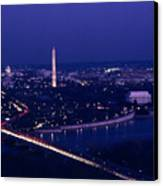 View Of Washington D.c. At Night Canvas Print