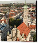 View Over Munich With Frauenkirche Canvas Print by Greg Dale