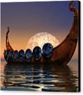 Viking Boat Canvas Print