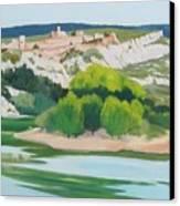 Village Above L'ardeche  Canvas Print