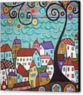 Village By The Sea Canvas Print by Karla Gerard