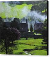Village In North Wales Canvas Print