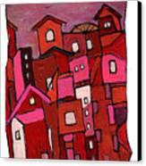 Village In Pink Canvas Print