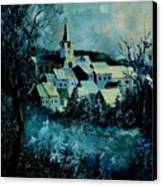 Village In Winter Canvas Print
