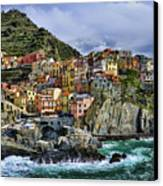 Village Of Manarola - Cinque Terre - Italy Canvas Print by JH Photo Service