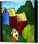 Village Scene Canvas Print
