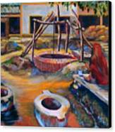 Village Well Canvas Print