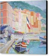 Ville Franche Boat Canvas Print by Pixie Glore
