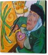 Vincent And The Asparagus Canvas Print