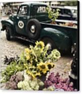 Vintage Flower Truck-nantucket Canvas Print by Tammy Wetzel