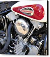 Vintage Harley V Twin Canvas Print by David Lee Thompson