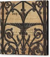 Vintage Iron Scroll Gate 1 Canvas Print by Debbie DeWitt