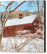 Vintage New England Barn Portrait Canvas Print by Bill Wakeley