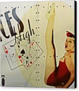 Vintage Nose Art Aces High Canvas Print
