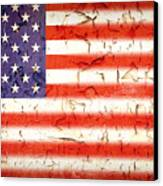 Vintage Stars And Stripes Canvas Print by Jane Rix