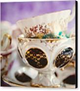 Vintage Teacups Canvas Print by Kim Fearheiley